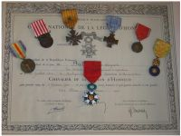 France WW1 Order Legion Honor Knight Cross Victory Verdun Military Medals set French Decorations 1914 1918