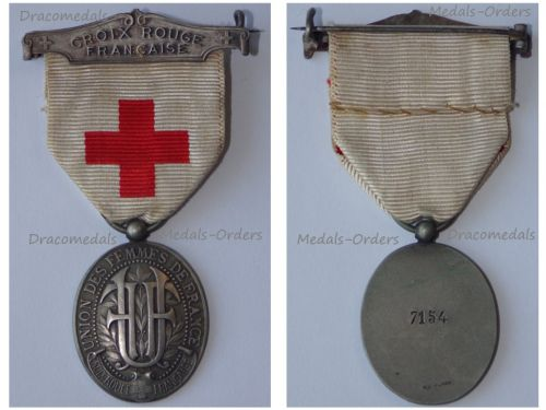 France WWI Red Cross Medal of the Union of the Women of France UFF 1914 1918 Numbered