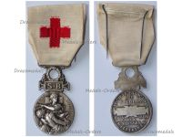 France Red Cross Medal of the French Association for Aiding the Wounded Military SB 1864 1866 Silvered Bronze Type