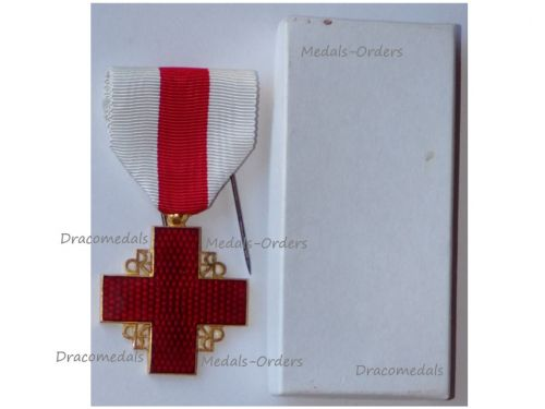 France Red Cross Medal Recompense Gold Class 2nd Form 1st Type 1950 Boxed