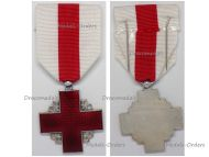 France Red Cross Medal Recompense Silver Class 2nd Form 2nd Type 1950