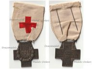France WWI Red Cross Medal French Association Aid Wounded SBM 1914 1918