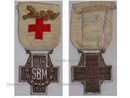 France Red Cross Medal French Association Aid Wounded SBM Gold Palms WWI 1914 1918
