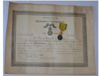 France WWI Military Medal Valor Discipline 1870 7th type 1910 1951 by Paris Mint with Diploma to NCO of 162th Infantry Regiment