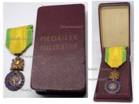 France WWI Military Medal Valor Discipline 1870 7th type 1910 1951 by Paris Mint Boxed