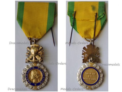 France WWII Military Medal Valor Discipline 8th type 4th Republic 1951 1961