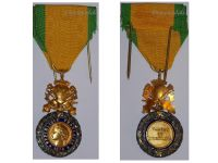 France WWII Military Medal Valor Discipline 1870 6th type 3rd Republic 1944 1951 Marked Bronze