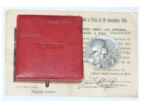 France WW1 Verdun medal 1916 on ne passe pas 1914 1918 Vernier Silver Decoration Boxed Monolingual Diploma Great War Award