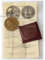 France WWI Verdun Medal 1916 by Vernier Non Wearable Type Cased by the Paris Mint with Bilingual Diploma