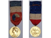 France Trade Labor Gold Medal Civil 1948 Decoration French Award 30 years service 4th Republic