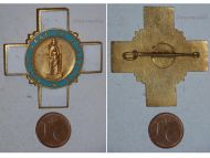 France Religious Cross Pilgrimage Chartres Catholic Church Civil Badge Pin Medal French Insignia Decoration