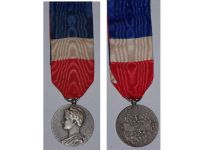 France Trade Labor Silver Medal Civil 1946 Decoration French Award 20 years service 4th Republic