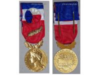 France Trade Labor Gold Medal palms Civil 1978 Decoration French Award 35 years service 5th Republic