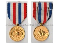 France Railroad Railway Gold Medal 35 years Service 1945 NAMED Civil French Decoration Award Paris Mint