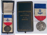 France Mercantile Merchant Marine Navy Medal WW1 1910 French Decoration NAMED to PAY P.E. Boxed