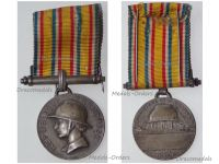 France WWII Firemen Silver Honor and Meritorious Service Medal 3rd type 1935 by Bazor and the Paris Mint