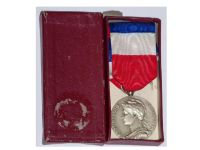 France Trade Labor Silver Medal Civil 1959 Decoration French Award 20 years service 4th Republic boxed