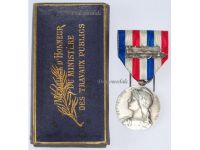 France WW2 Railroad Railway Silver Medal 25 years Service 1939 French Decoration WWII Named Boxed