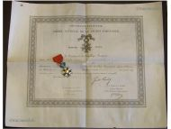 France Order Legion Honor Knight's Cross Captain Artillery Diploma 1879 Military Medal Franco Prussian War 1870