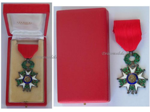 France WWII Order Legion Honor Knight's Cross French 4th Republic 1951 1961 Luxurious Type Boxed by Gloria Nantes