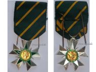 France WW2 Order Combatant Merit Knight's Cross Military Medal French Republic Decorarion Award 1953 1963 by Muller & Delande