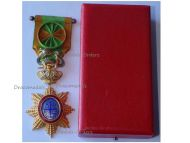 France Indochina WWI Order of the Dragon of Annam Officer's Star Boxed