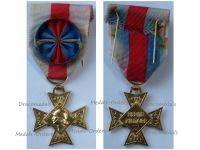 France Order Military Merit Officer's Cross in Gold (Silver Gilt) 1957 1963 by the Paris Mint & Delannoy