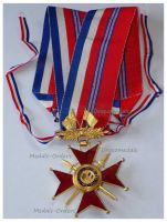 France Britain WW2 Franco British Association Commander's Cross Military Medal French Decoration 1939 1945 1st Type