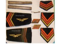 France Rank Insignia WWII Air Force Corporal Major Aviator Set Free French WW2 1940 1945
