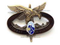 France CIECM Badge Alpine Troops Training Center 1990 by Drago