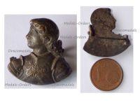 France WWI Patriotic Badge Joan of Arc Bust