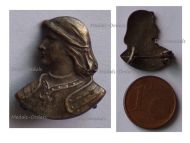France WWI Patriotic Badge Joan of Arc Bust