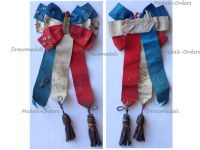 France WWI Patriotic Ribbon Badge in the French National Colors