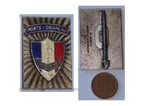 France WWI WWII Souvenir Francaise Flag Bearer Badge French Remembrance by Augis