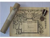 France WW1 Aisne Chemin Dames French Military Medal 1914 1918 WWI Military Decoration Diploma Tube Great War