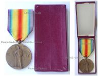 France WWI Victory Interallied Medal by Pautot Mattei Laslo Unofficial Type 2 Boxed