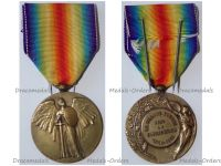 France WWI Victory Interallied Medal by Pautot Mattei Laslo Unofficial Type 2