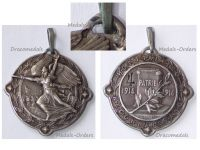 France WWI Silver Victory Medal Military Hospital N.120 Numbered #4 1914 1916 by Gardet