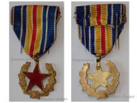 France WWI Wound Military Medal Red Star Great War 1914 1918 French Badge Wounded Decoration 1st Type Open Laurel Wreath