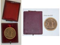 France WWI Bronze Medal for Military Preparation and Readiness by Bertrand and Desaide Boxed