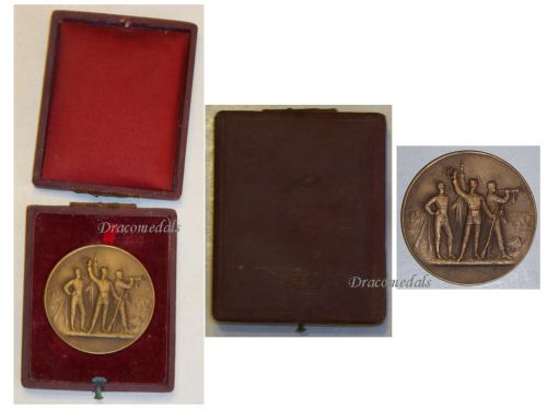 France WWI Bronze Medal for Military Preparation and Readiness by Bertrand Boxed