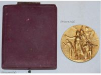 France WWI Gold Medal for Military Preparation and Readiness by Rasumny Boxed