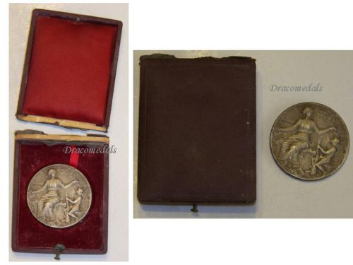 France WWI Silver Medal for Military Preparation and Readiness by Rasumny Boxed