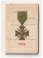 France WWI Patriotic Miniature Calendar for the Year 1916 with the French War Cross with Palms on the Cover