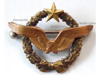 France WWII Pilot Wings Badge French Air Force 1939 1940 Numbered