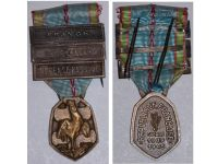 France WWII Commemorative Medal 1939 1945 with 3 Clasps (France, Liberation, Defense  Passive) by the Paris Mint