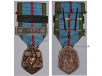 France WWII Commemorative Medal 1939 1945 with 2 Clasps (France, Italy) by the Paris Mint