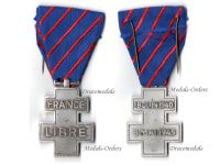 France WW2 Libre Free French Volunteers Commemorative War Cross Military Medal Decoration WWII 1939 1945
