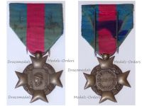France WWII Cross for Voluntary Services Bronze Class 1st Type with Small Head