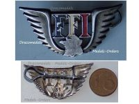 France WWII Free French of Interior Wings FFI Badge Resistance Numbered